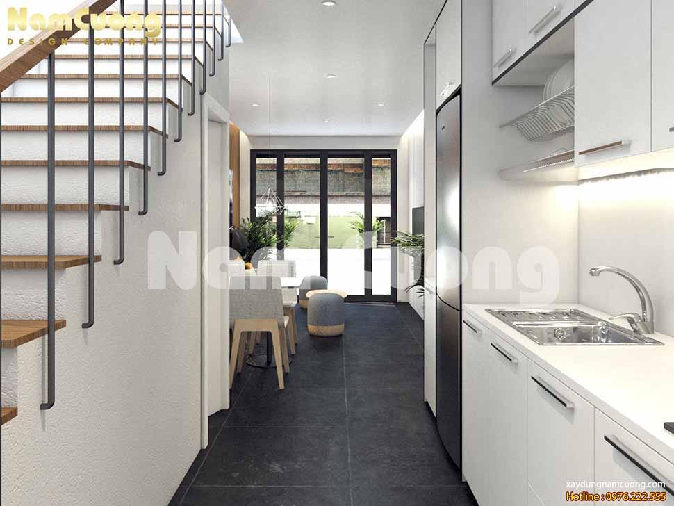 khu bếp nấu thiết kế nhà nhỏ kiểu hiện đại
