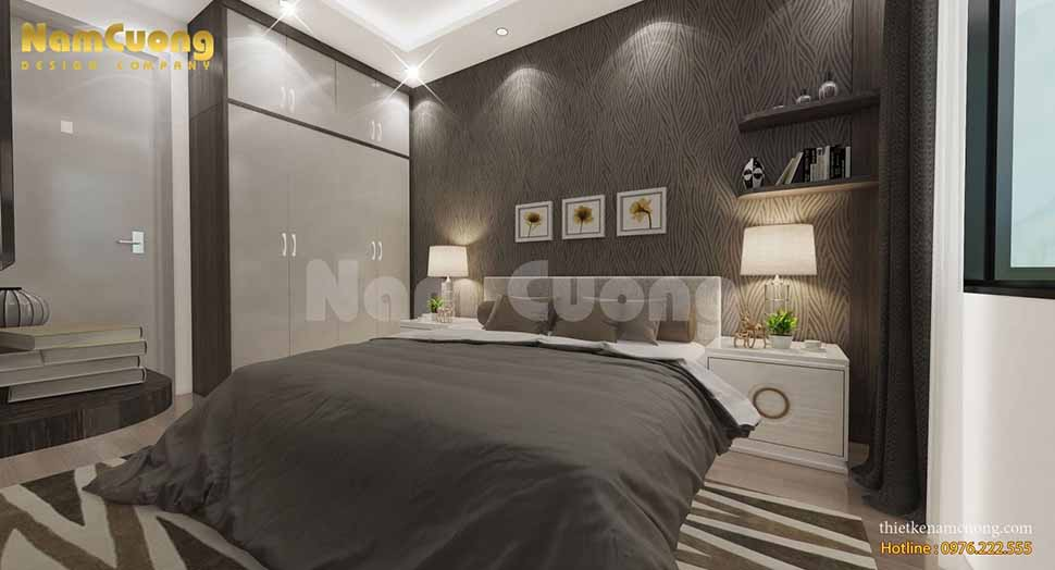 Phong cách phòng ngủ khách của nội thất nhà ống hiện đại