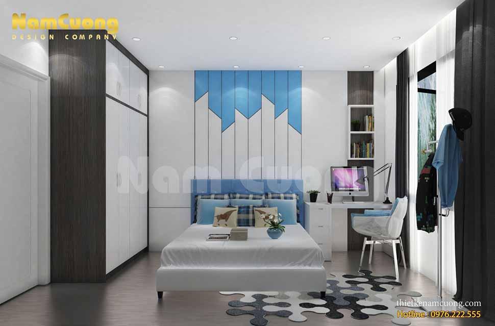 tone màu mang đến sự sáng sủa và ấm áp cho không gian phòng ngủ của nội thất hiện đại