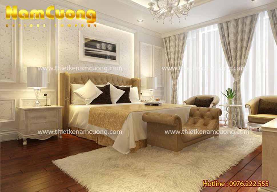 không gian phòng ngủ tân cổ điển