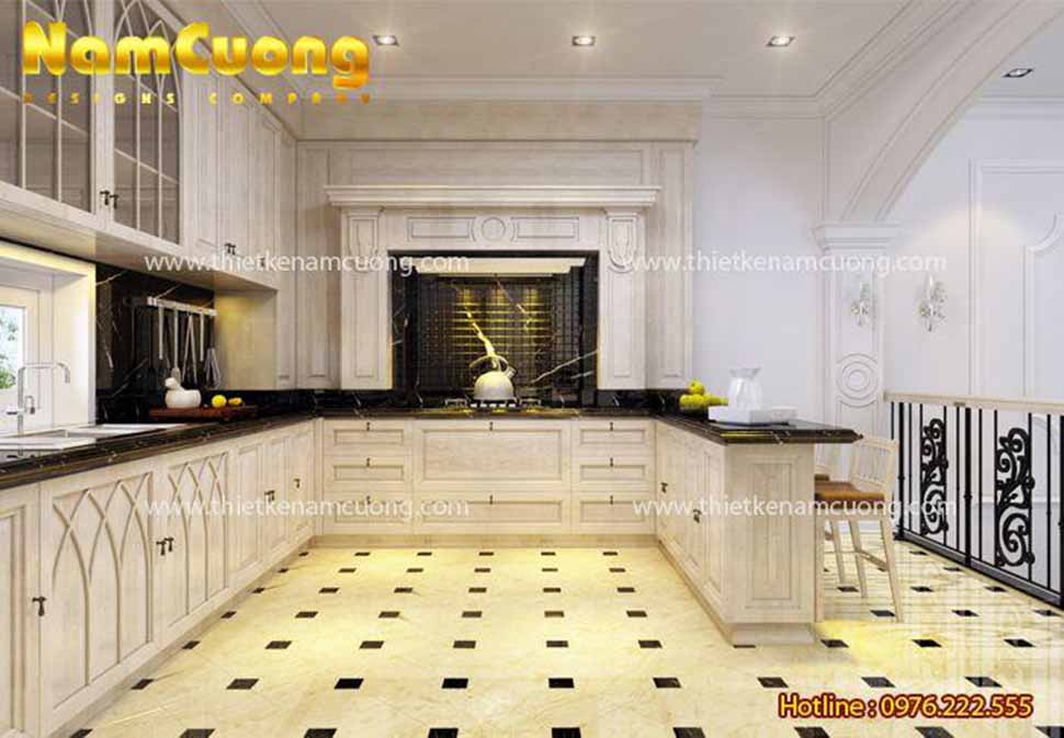 khu bếp nấu nhà ống mặt phố