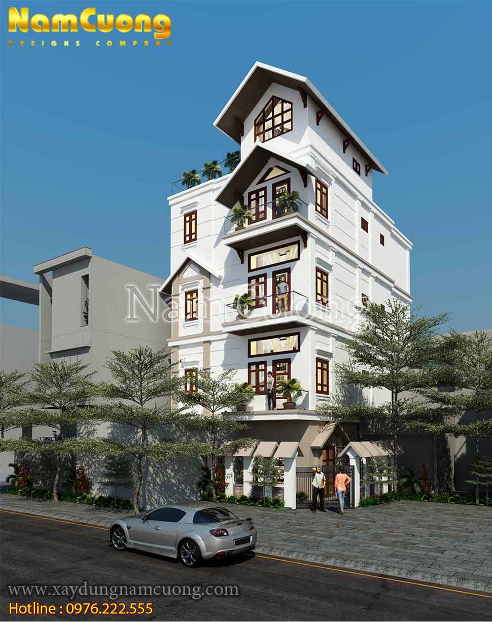 kiến trúc nhà phố kiểu pháp