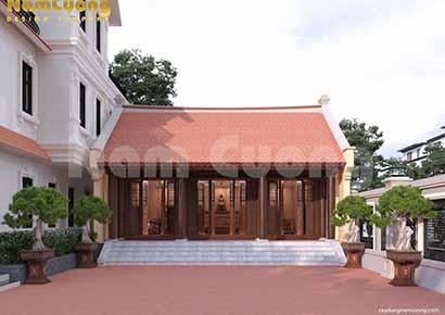 thiết kế nhà thờ 3 gian