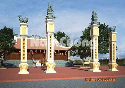 thiết kế nhà thờ 5 gian