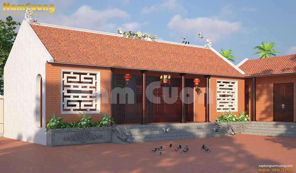 thiết kế nhà thờ họ đơn giản