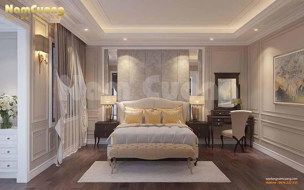 phòng ngủ ông bà phong cách tân cổ điển
