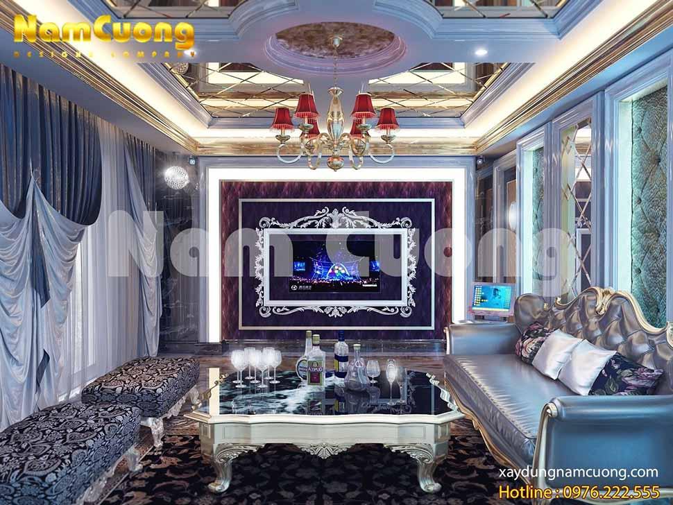 nội thất phòng karaoke biệt thự tại Nghệ An
