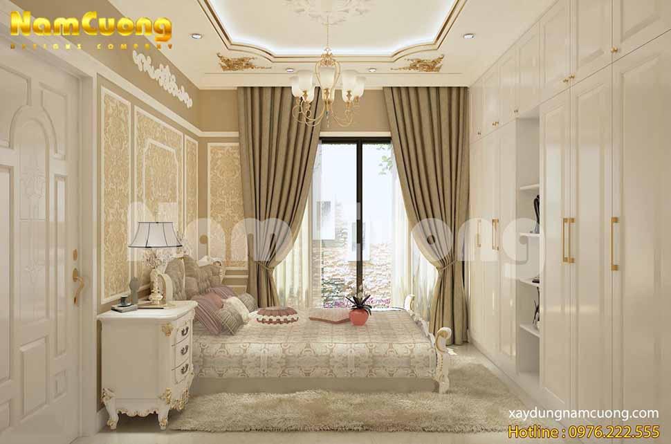 Vẻ đẹp tinh tế, ấm áp trong phòng ngủ tân cổ điển
