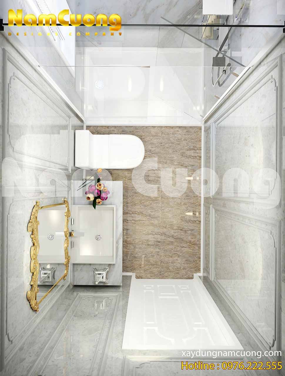 Vẻ đẹp tinh tế, cuốn hút của phòng vệ sinh tân cổ điển