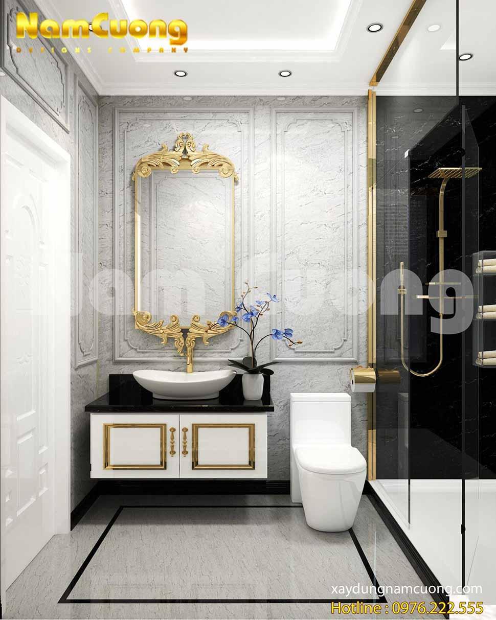 Phòng vệ sinh với vẻ đẹp đẳng cấp