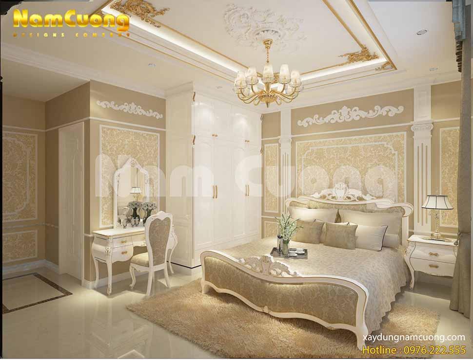 Đường nét hoa văn cổ điển mang đến sự sang trọng cho phòng ngủ