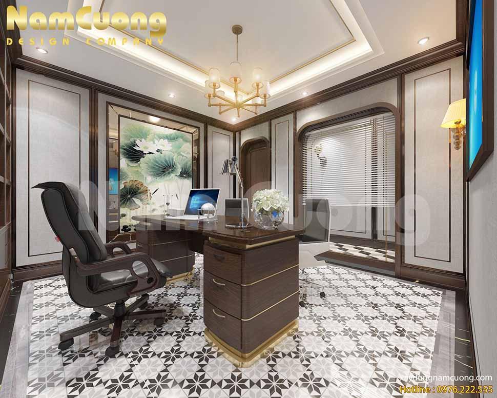 Phòng Phó giám đốc trên tầng 3, cạnh phòng kế toán