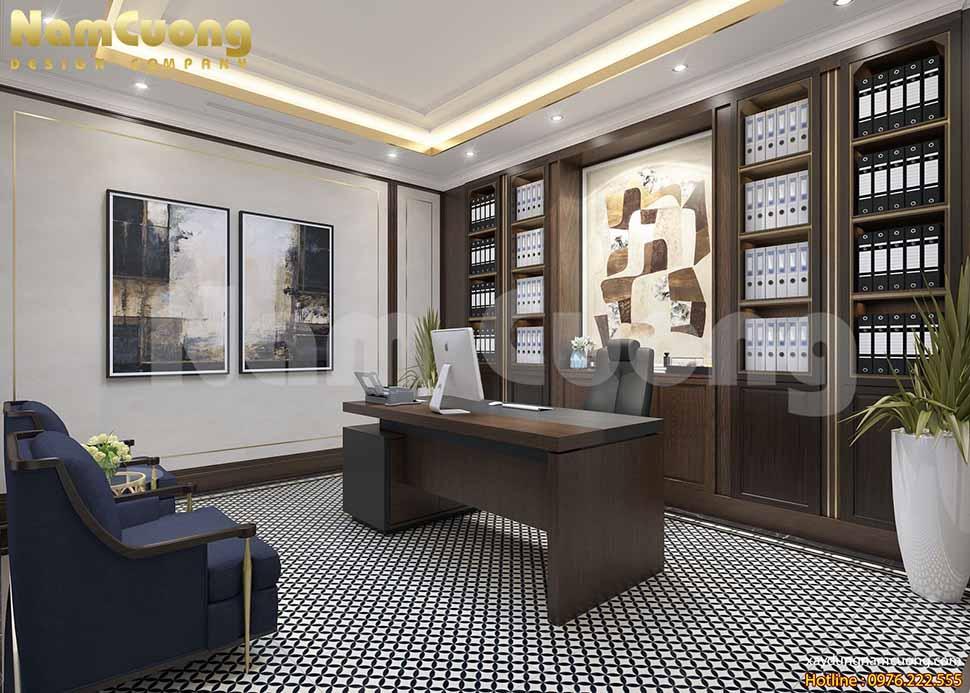 Thiết kế nội thất tầng 3 hiện đại tòa nhà cho thuê kinh doanh