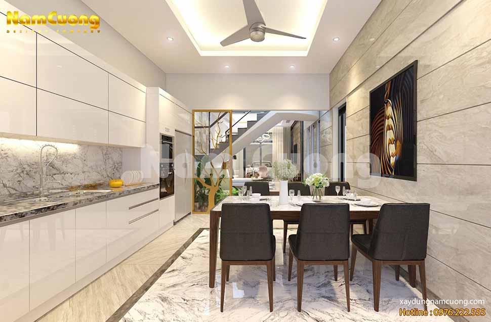 thiết kế nội thất nhà ống hiện đại