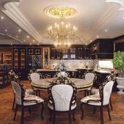 không gian phòng ăn cổ điển