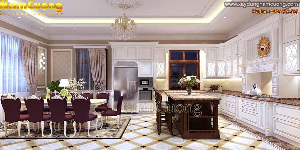 mẫu phòng bếp cho biệt thự đẹp