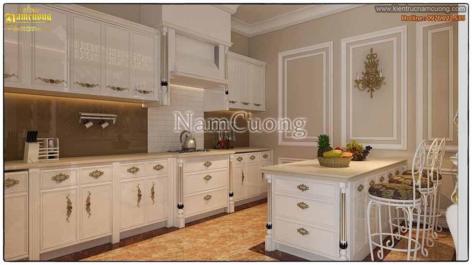 thiết kế phòng bếp sang trọng tại hải phòng
