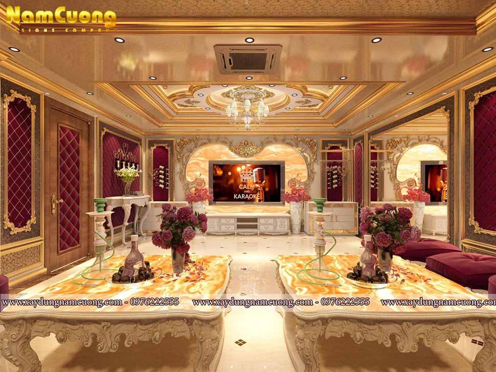 bộ sofa ấn tượng trong phòng hát
