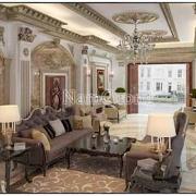 thiết kế phòng khách dài hẹp