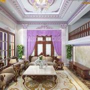 thiết kế phòng khách hình chữ nhật