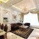 thiết kế phòng khách và bếp chung