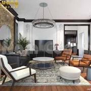 thiết kế phòng khách và phòng bếp
