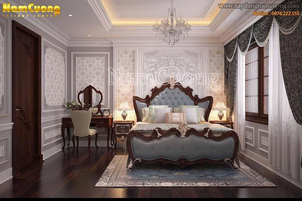 phòng ngủ ấn tượng tân cổ điển