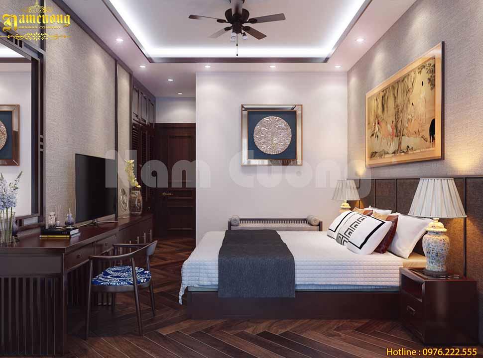 thiết kế phòng ngủ 30m2 tân cổ điển