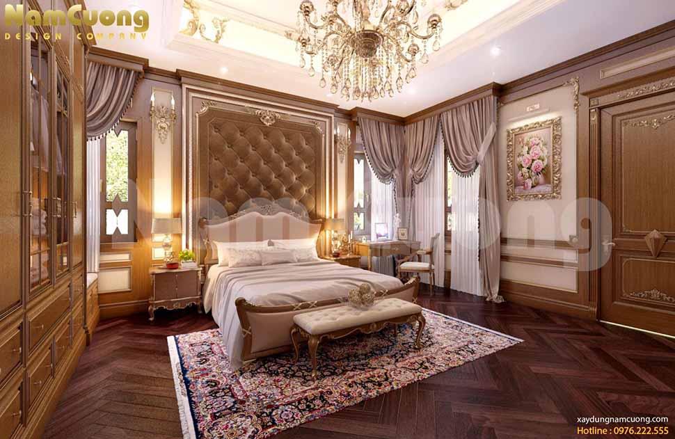 mẫu phognf ngủ đẹp cho biệt thự cổ điển