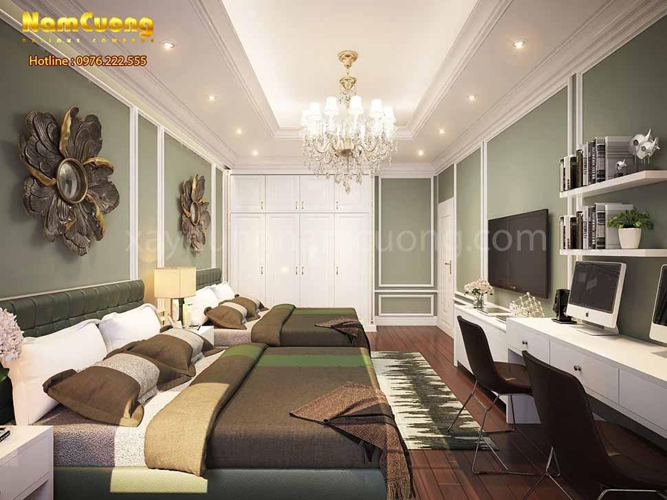 không gian ấn tượng của phòng ngủ
