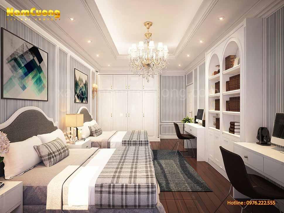 phòng ngủ đôi tân cổ điển