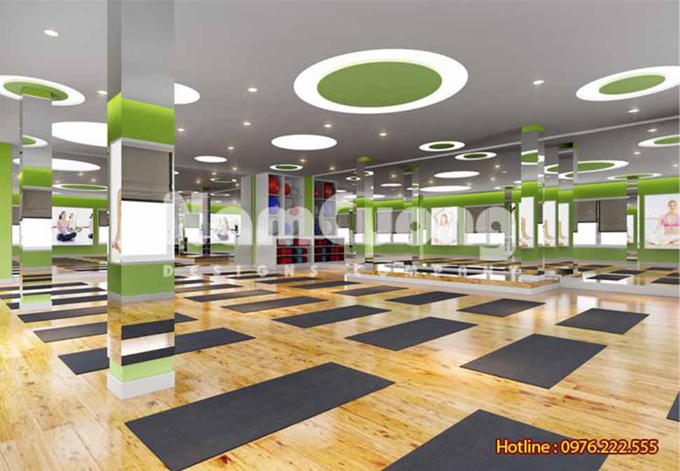 không gian phòng tập yoga