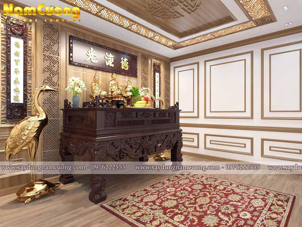 nội thất phòng thờ gỗ