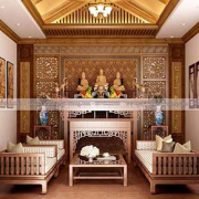 thiết kế phòng thờ nhà biệt thự