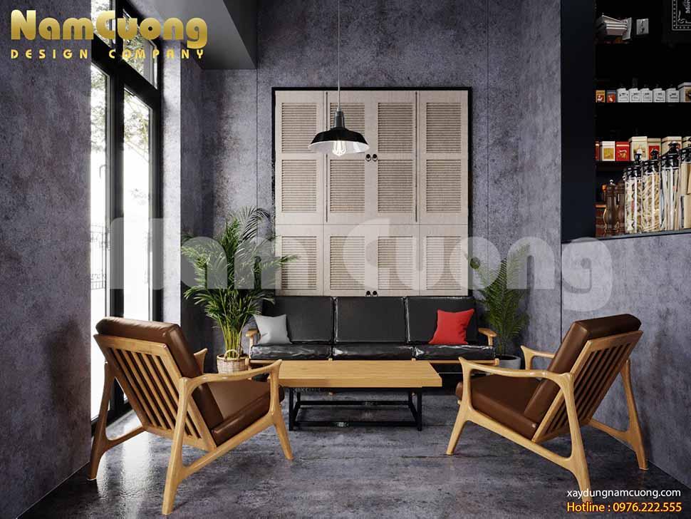 nội thất quán cafe phong cách vintage