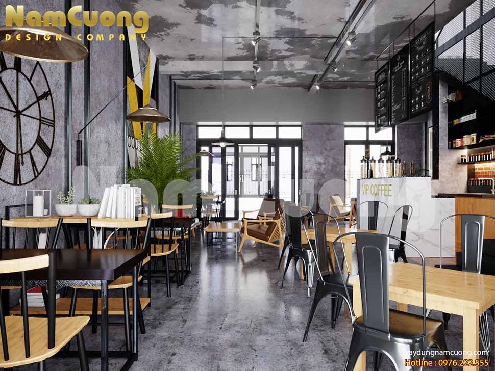 màu sắc quán cafe vintage