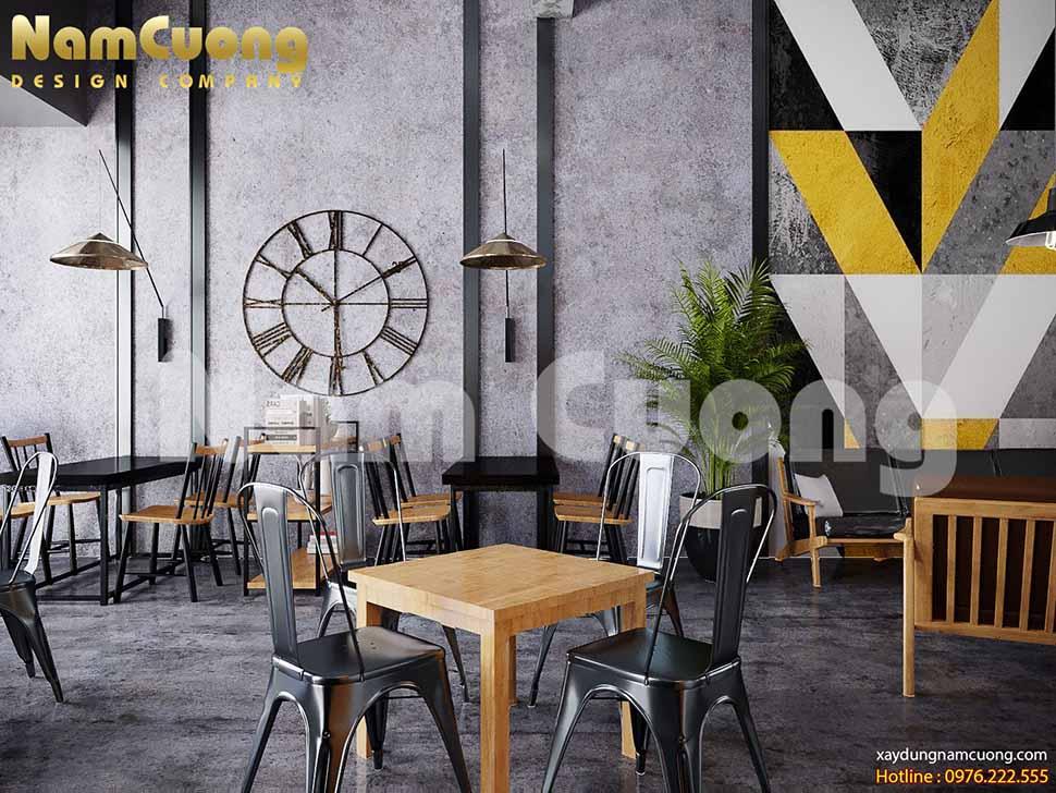 bàn ghế quán cafe phong cách vintage