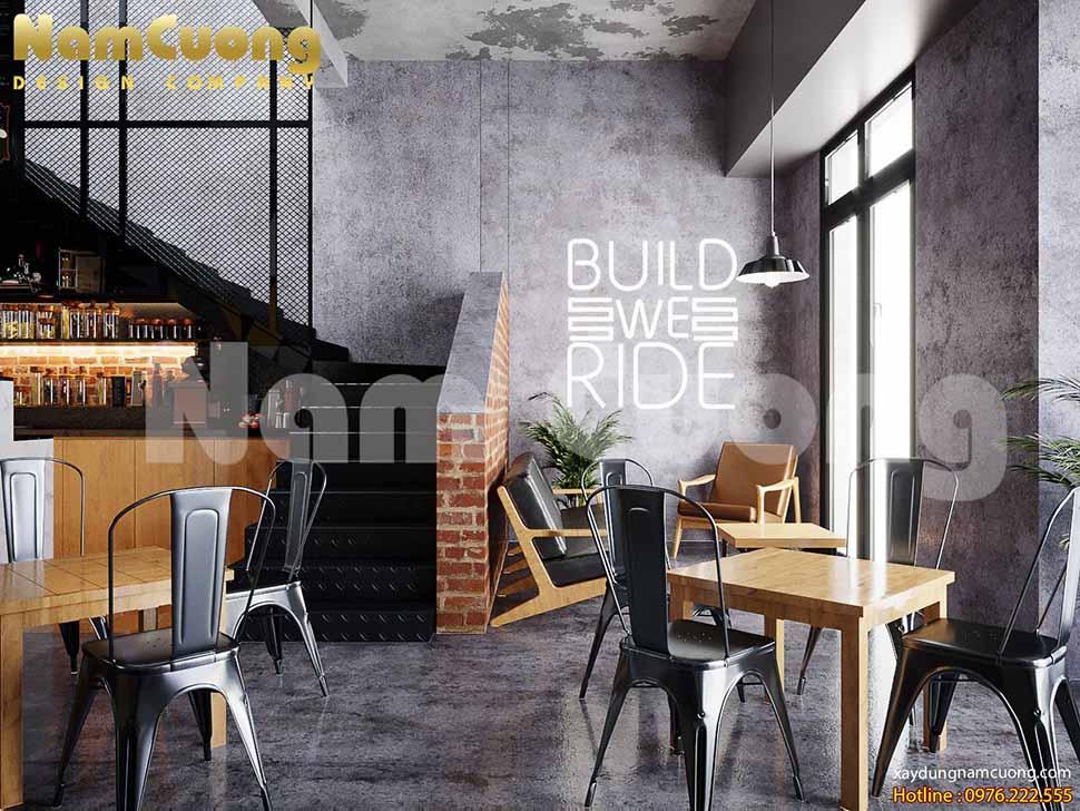 không gian quán cafe VIP vintage