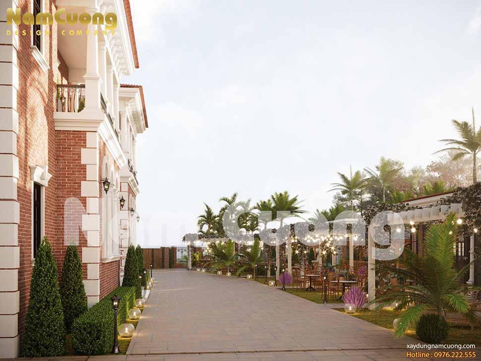 lối đi trong resort mini