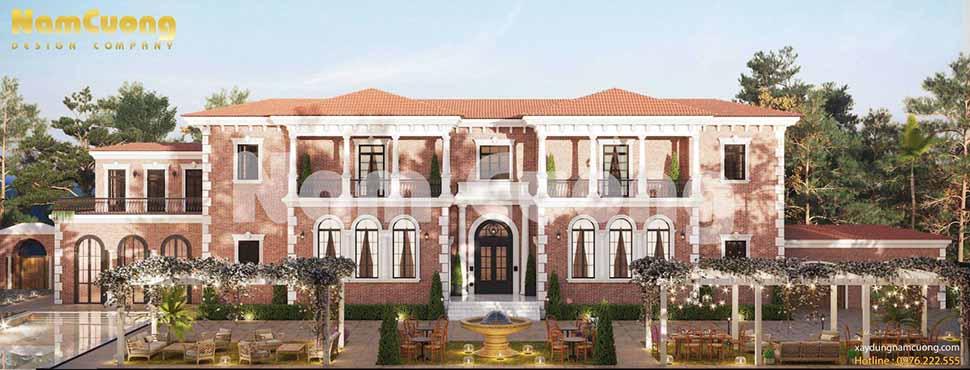 kiến trúc biệt thự trong resort