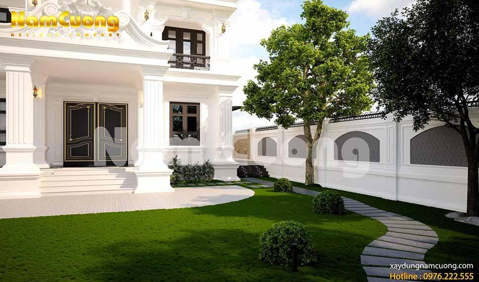 mẫu thiết kế sân vườn bên hông nhà đẹp