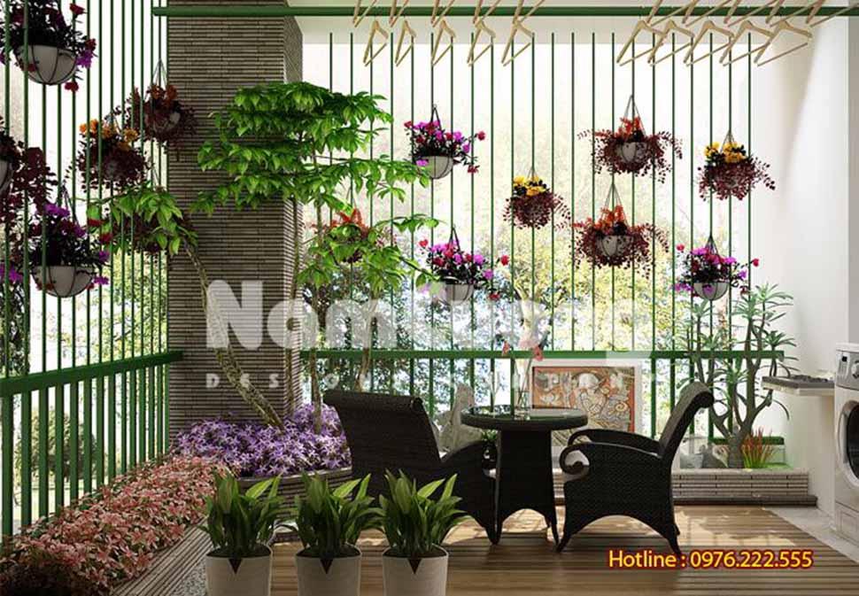 thiết kế sân vườn nhà ống