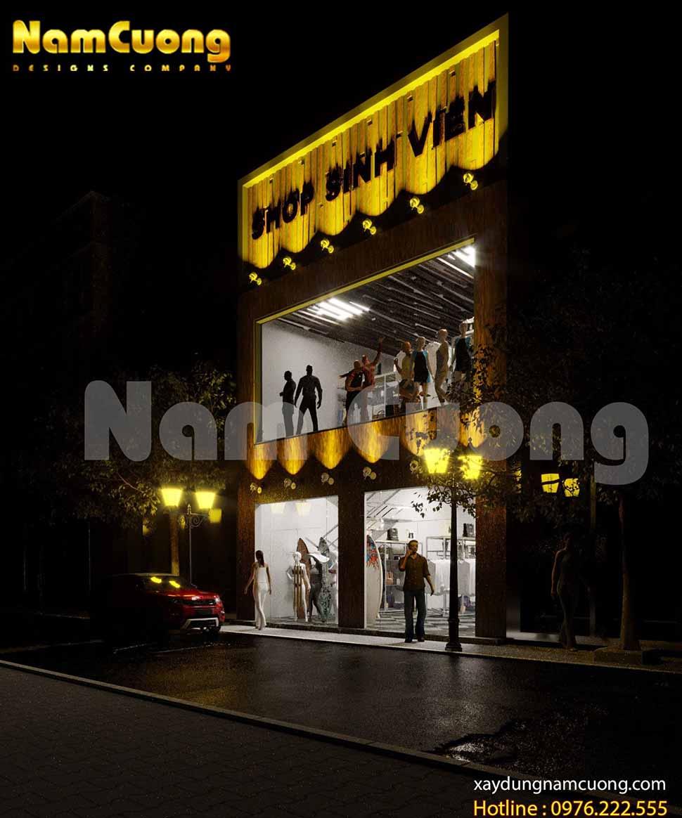 thiet ke shop thoi trang dep hut khach