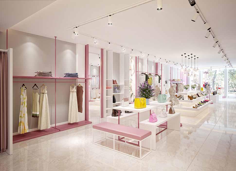 nội thất tầng 1 shop thời trang