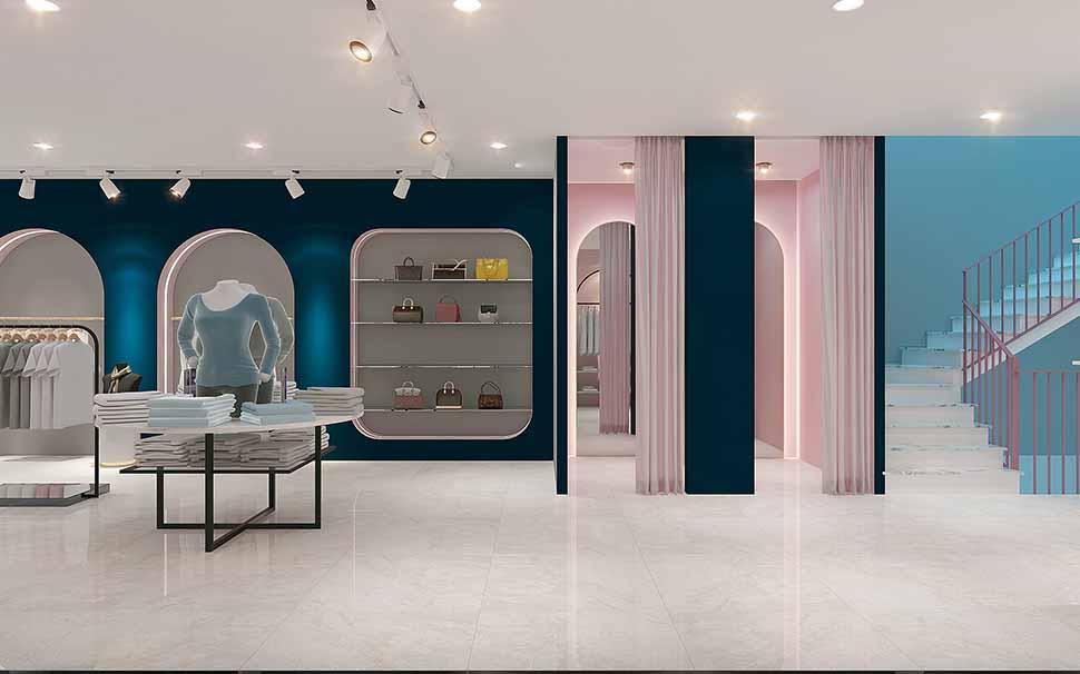phòng thay đồ shop thời trang