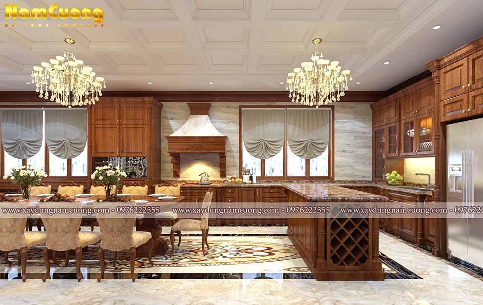 phòng ăn đẹp tân cổ điển