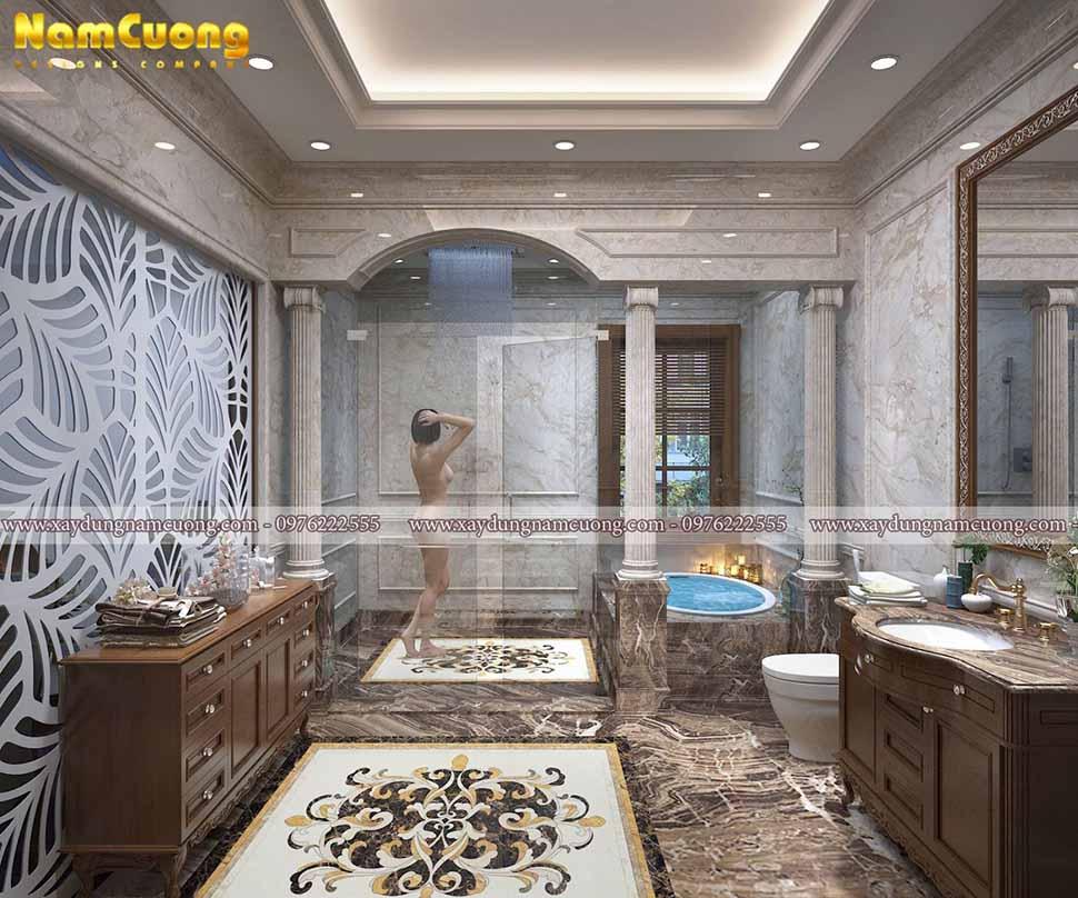 phòng tắm sang trọng trong ngôi nhà