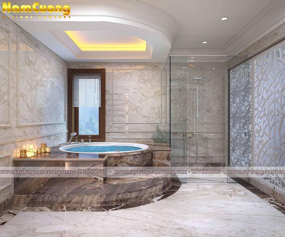 phòng tắm trong mẫu thiết kế showroom cửa hàng