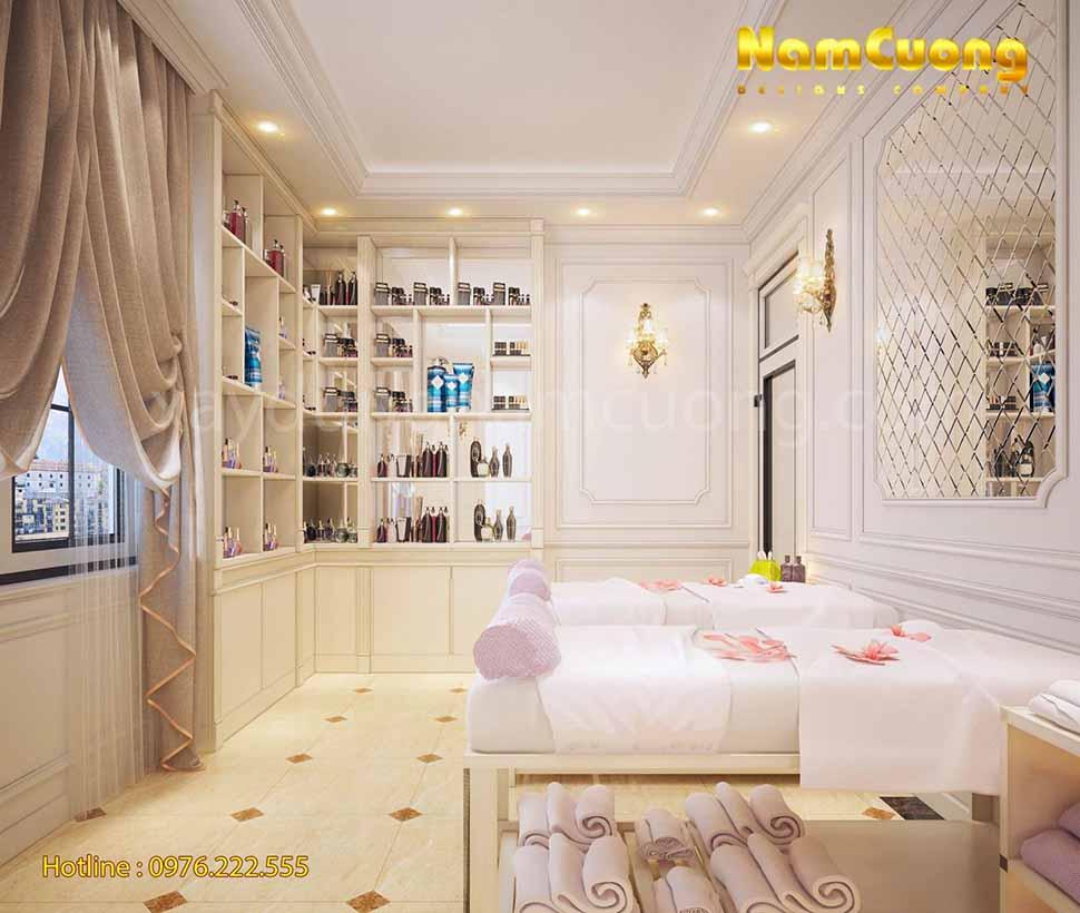 không gian nội thất spa sang trọng