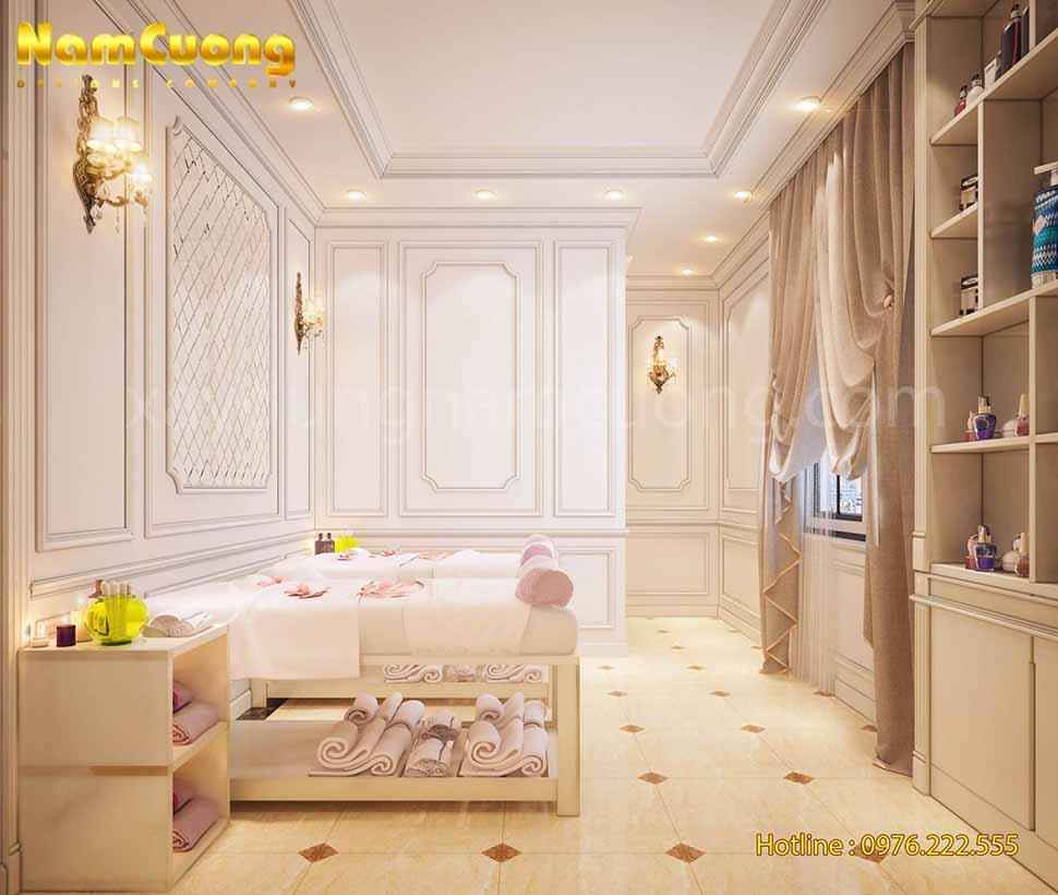 không gian nội thất spa mini